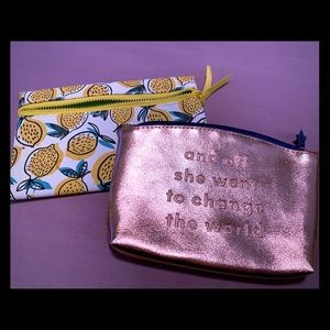 2 Ipsy brand make up pouches